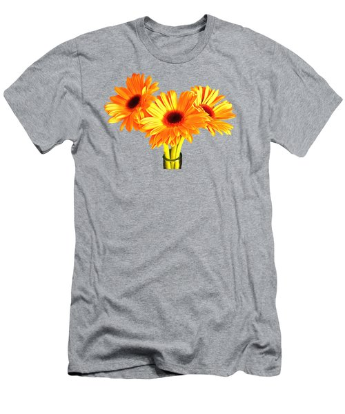 Men's T-Shirt (Slim Fit) featuring the photograph Orange Gerbera's by Scott Carruthers