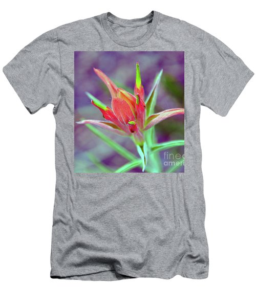 Orange Paintbrush Flower Men's T-Shirt (Athletic Fit)