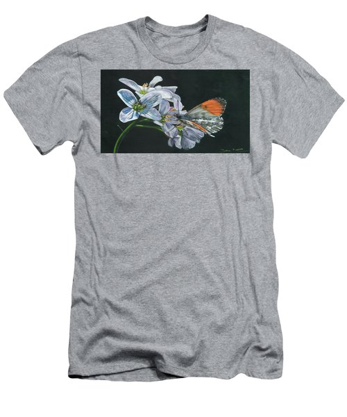 Orange Tip  Men's T-Shirt (Athletic Fit)