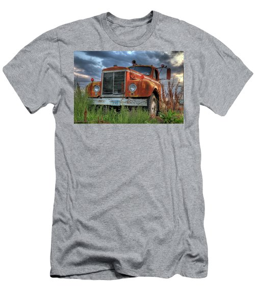 Orange Truck Men's T-Shirt (Athletic Fit)