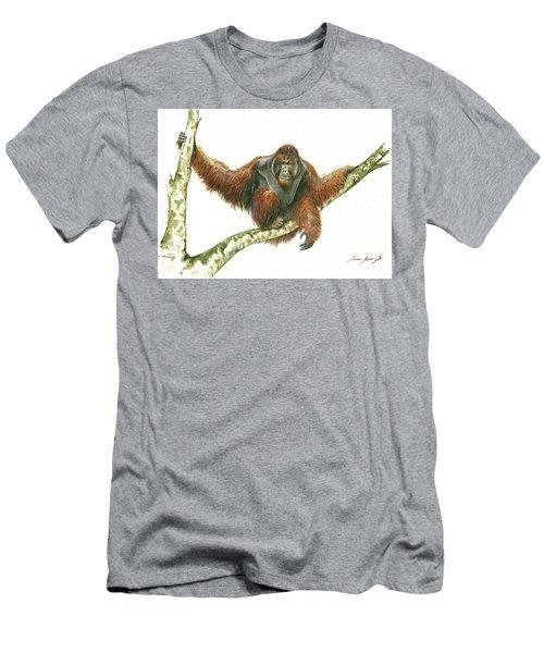 Orangutang Men's T-Shirt (Slim Fit) by Juan Bosco