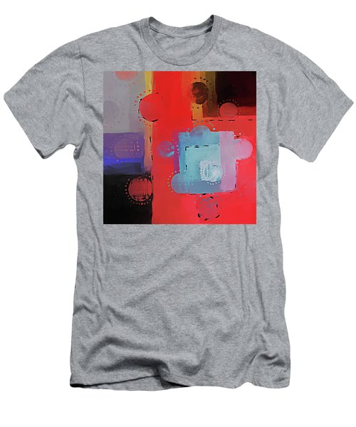 Men's T-Shirt (Athletic Fit) featuring the mixed media Orbs by Eduardo Tavares