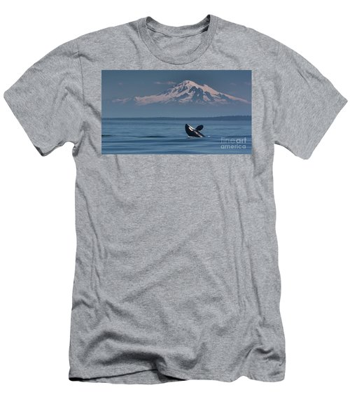 Orca - Mt. Baker Men's T-Shirt (Athletic Fit)
