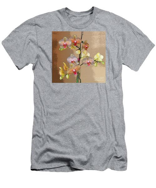 Men's T-Shirt (Slim Fit) featuring the photograph Orchid Love by Jeanette French