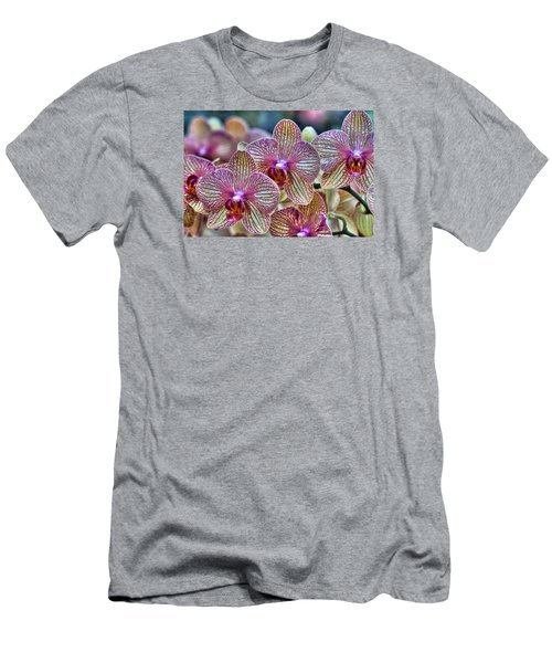 Orchid Melody Men's T-Shirt (Slim Fit) by Nadia Sanowar