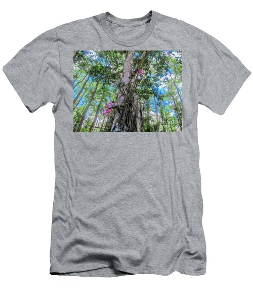 Orchids In A Tree Men's T-Shirt (Athletic Fit)