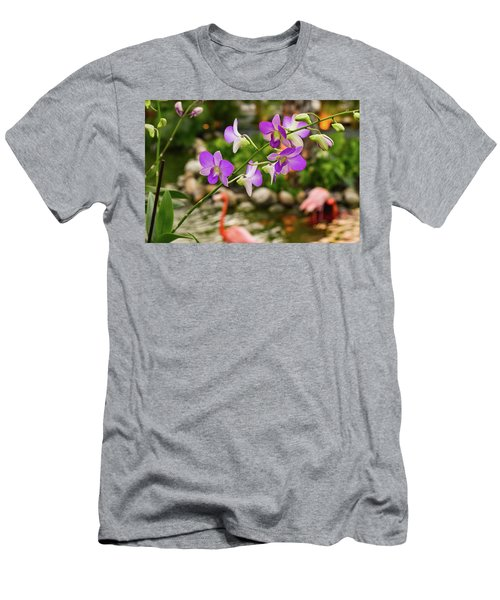 Orchids In Paradise Men's T-Shirt (Athletic Fit)
