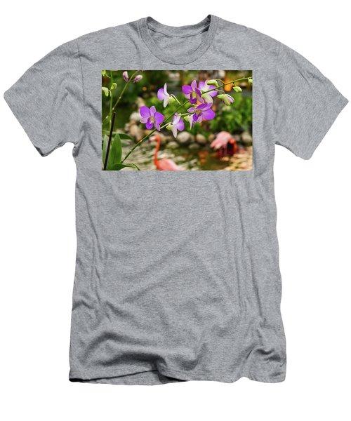 Orchids In Paradise Men's T-Shirt (Athletic Fit)