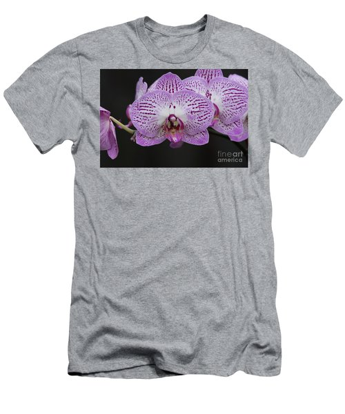 Orchids On Black Men's T-Shirt (Athletic Fit)