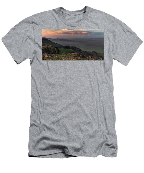 Men's T-Shirt (Slim Fit) featuring the photograph Oregon Canyon Mountain Views by Leland D Howard