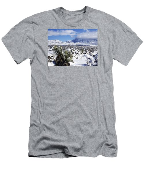 Men's T-Shirt (Slim Fit) featuring the photograph Winter's Blanket Organ Mountains by Kurt Van Wagner
