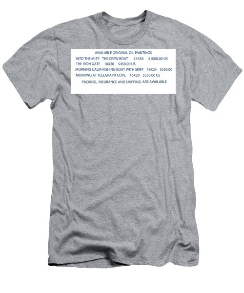 Original Oil Painting Availability List Men's T-Shirt (Slim Fit)