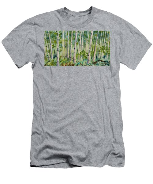 Original Watercolor - Summer Aspen Forest Men's T-Shirt (Athletic Fit)