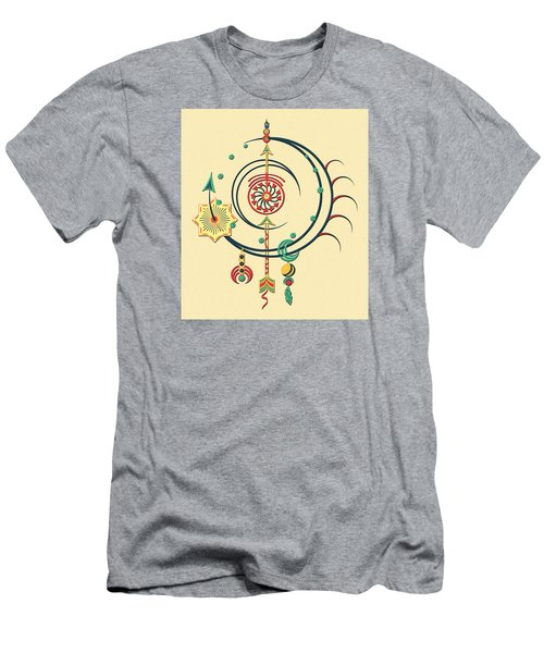 Men's T-Shirt (Slim Fit) featuring the drawing Ornament Variation Three by Deborah Smith