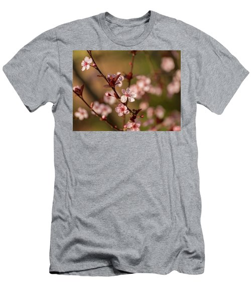 Purple Leaf Sandcherry Blossoms 2 Men's T-Shirt (Athletic Fit)