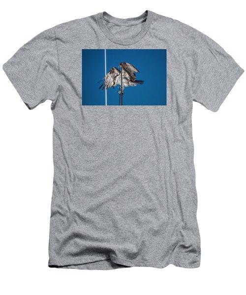 Osprey On The Boat Rod Men's T-Shirt (Slim Fit) by Dorothy Cunningham