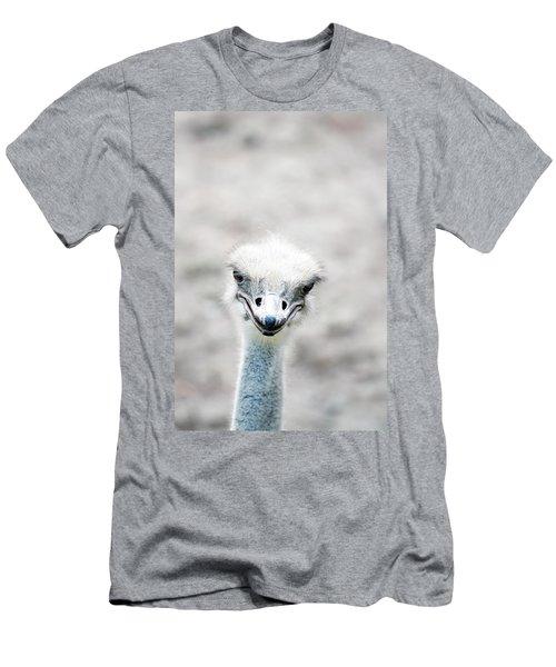 Ostrich Men's T-Shirt (Slim Fit) by Lauren Mancke