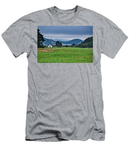 Men's T-Shirt (Athletic Fit) featuring the photograph Otago Peninsula I - New Zealand by Steven Ralser