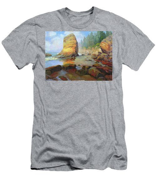 Otter Rock Beach Men's T-Shirt (Athletic Fit)