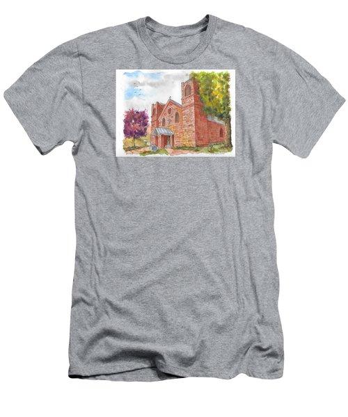 Our Lady Of Sorrow Catholic Church, Las Vegas, New Mexico Men's T-Shirt (Slim Fit) by Carlos G Groppa