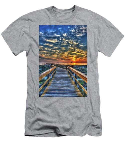 Men's T-Shirt (Athletic Fit) featuring the photograph Out To Sea Tybee Island Georgia Art by Reid Callaway
