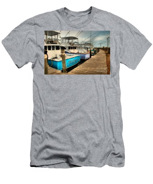 Outer Banks Fishing Boats Waiting Men's T-Shirt (Athletic Fit)