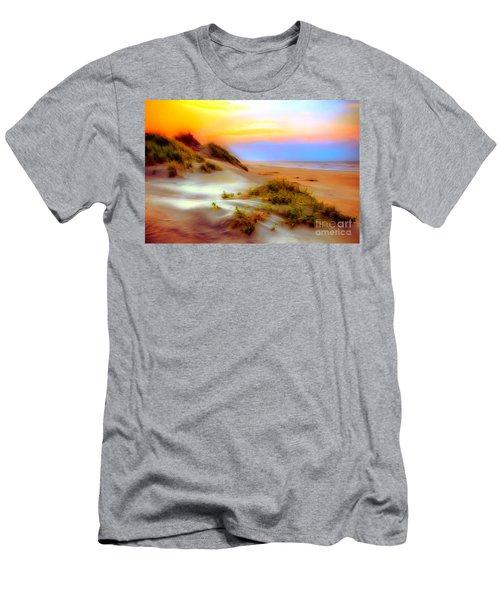 Outer Banks Soft Dune Sunrise Ap Men's T-Shirt (Slim Fit) by Dan Carmichael