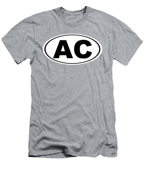 Men's T-Shirt (Slim Fit) featuring the photograph Oval Ac Atlantic City New Jersey Home Pride by Keith Webber Jr