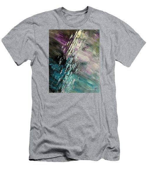 Men's T-Shirt (Slim Fit) featuring the painting Over Cosmic Clouds by Tatiana Iliina