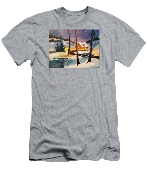 Over The River Men's T-Shirt (Slim Fit) by Larry Hamilton