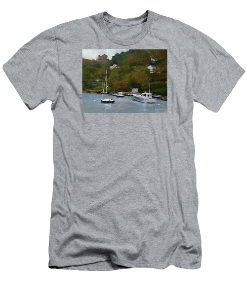 Overcast Day At Rockport Harbor Men's T-Shirt (Athletic Fit)