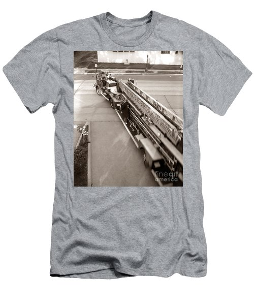 Overhead View Of Fire Truck, C.1960s Men's T-Shirt (Athletic Fit)