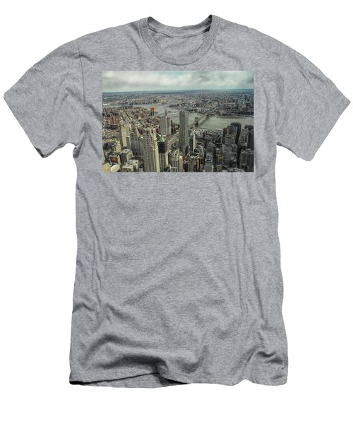 Overlooking Manhattan's East River  Men's T-Shirt (Athletic Fit)