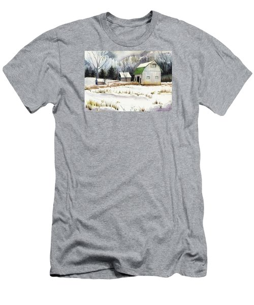 Men's T-Shirt (Slim Fit) featuring the painting Owen County Winter by Katherine Miller