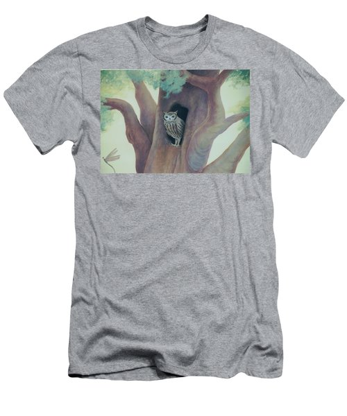 Owl In Tree Men's T-Shirt (Athletic Fit)