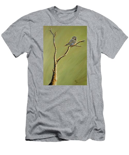 Owl On A Branch Men's T-Shirt (Athletic Fit)