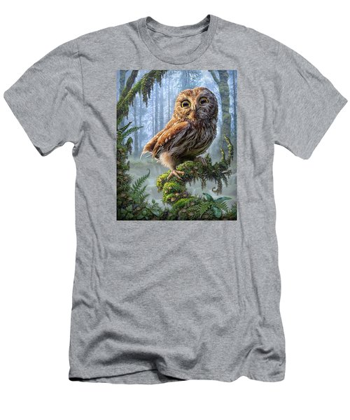Owl Perch Men's T-Shirt (Athletic Fit)