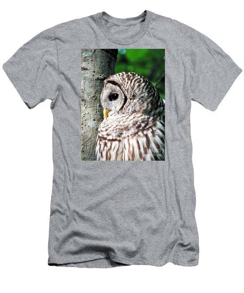 Owl Profile Men's T-Shirt (Athletic Fit)