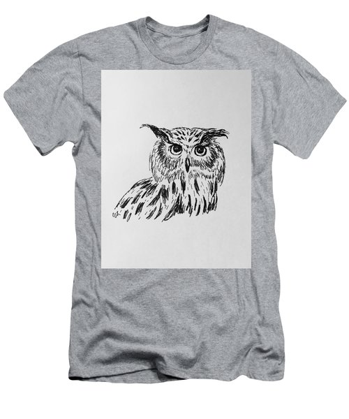 Owl Study 2 Men's T-Shirt (Slim Fit) by Victoria Lakes