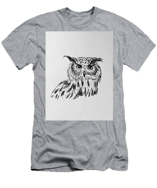 Owl Study 2 Men's T-Shirt (Athletic Fit)