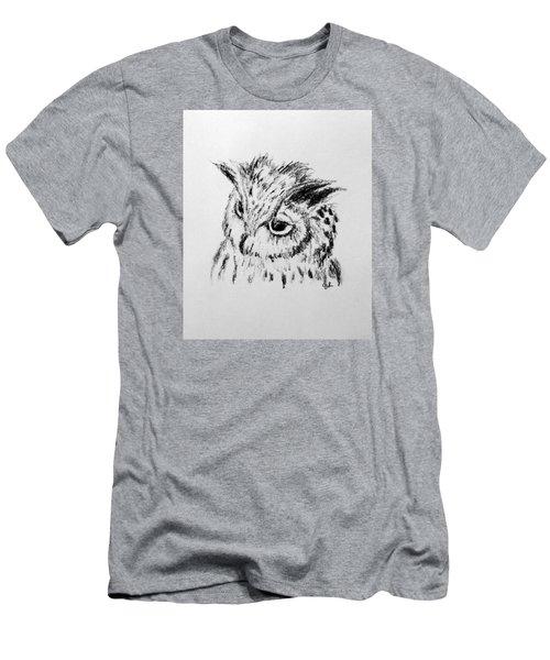 Owl Study Men's T-Shirt (Athletic Fit)