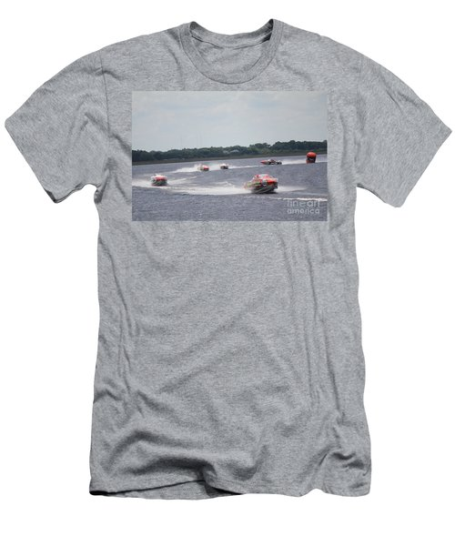 Men's T-Shirt (Slim Fit) featuring the photograph P1 Powerboats Orlando 2016 by David Grant