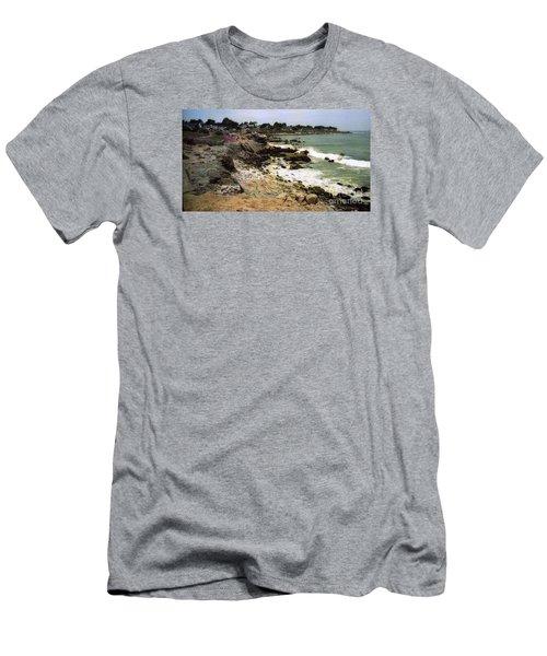 Pacific California Coast Beach Men's T-Shirt (Slim Fit) by Ted Pollard