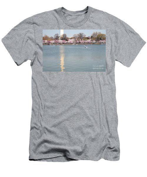 Paddleboating At Cherry Blossom Time In Washington Dc Men's T-Shirt (Athletic Fit)