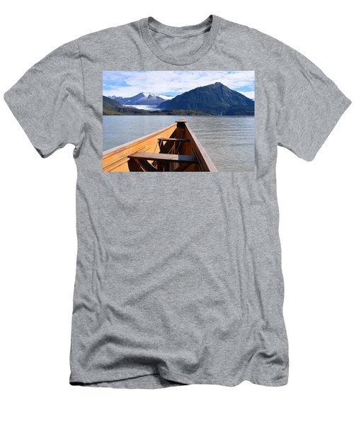 Paddling On Mendenhall Lake Men's T-Shirt (Athletic Fit)