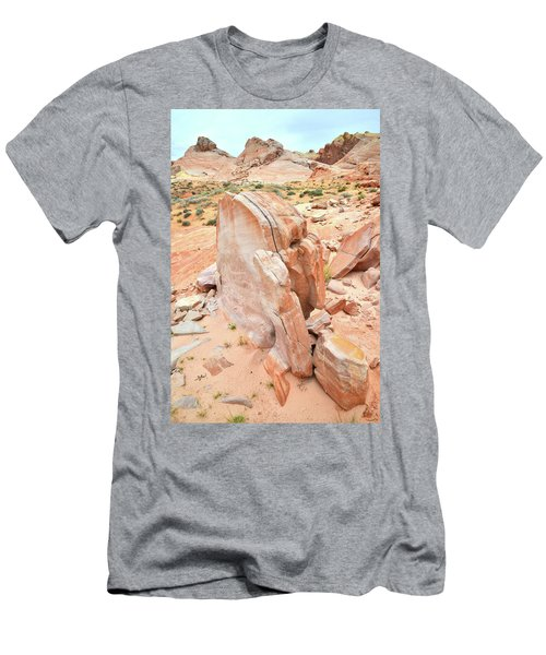 Men's T-Shirt (Slim Fit) featuring the photograph Pages Of Stone In Valley Of Fire by Ray Mathis