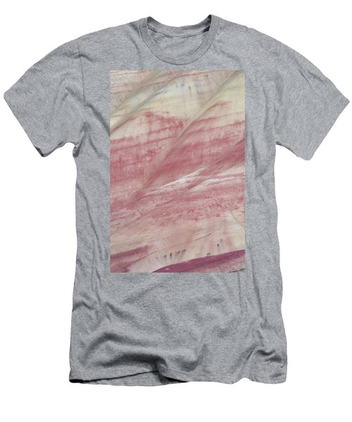 Men's T-Shirt (Slim Fit) featuring the photograph Painted Hills Textures 1 by Leland D Howard
