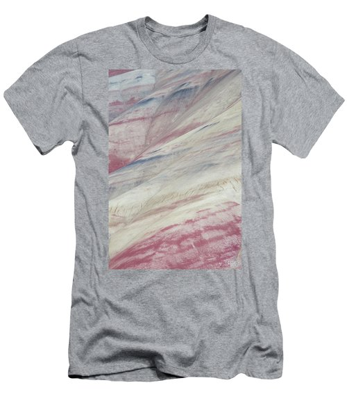 Men's T-Shirt (Slim Fit) featuring the photograph Painted Hills Textures 3 by Leland D Howard