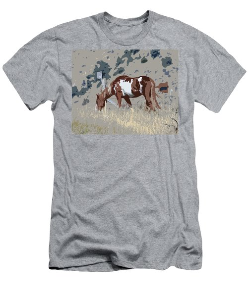 Men's T-Shirt (Slim Fit) featuring the photograph Painted Horse by Steve McKinzie
