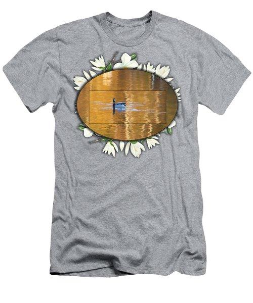 Painted Mallard On Magnolia Pond Men's T-Shirt (Athletic Fit)